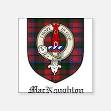 "MacNaughton Clan Crest Tartan Square Sticker 3"" x"