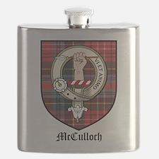 McCulloch Clan Crest Tartan Flask
