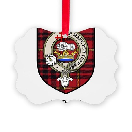 McDonald Clan Crest Tartan Picture Ornament