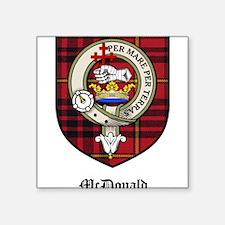 "McDonald Clan Crest Tartan Square Sticker 3"" x 3"""