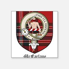 "McFarlane Clan Crest Tartan Square Sticker 3"" x 3"""