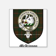 """McKinnon Clan Crest Tartan Square Sticker 3"""" x 3"""""""