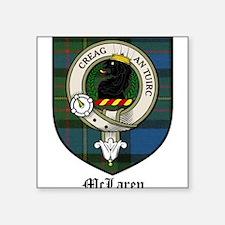 """McLaren Clan Crest Tartan Square Sticker 3"""" x 3"""""""