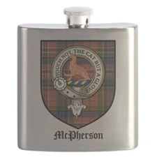 McPherson Clan Crest Tartan Flask