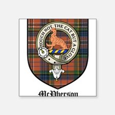 "McPherson Clan Crest Tartan Square Sticker 3"" x 3"""