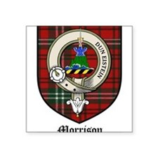 "Morrison Clan Crest Tartan Square Sticker 3"" x 3"""