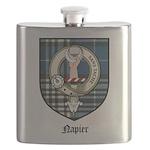 Napier Clan Crest Tartan Flask