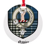 Napier Clan Crest Tartan Round Ornament