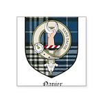 Napier Clan Crest Tartan Square Sticker 3