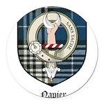 Napier Clan Crest Tartan Round Car Magnet