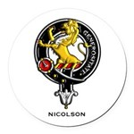 Nicolson.jpg Round Car Magnet