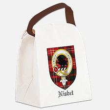 Nisbet Clan Crest Tartan Canvas Lunch Bag