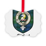 Oliphant Clan Crest Tartan Picture Ornament