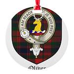 Oliver CLan Crest Tartan Round Ornament