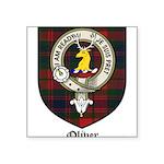 Oliver CLan Crest Tartan Square Sticker 3