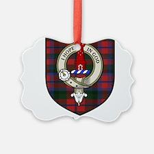 Porter Clan Crest Tartan Ornament