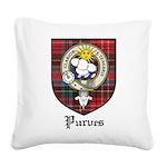Purves Clan Crest Tartan Square Canvas Pillow