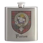 Purves Clan Crest Tartan Flask