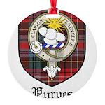 Purves Clan Crest Tartan Round Ornament