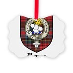 Purves Clan Crest Tartan Picture Ornament