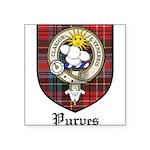 Purves Clan Crest Tartan Square Sticker 3
