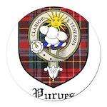 Purves Clan Crest Tartan Round Car Magnet