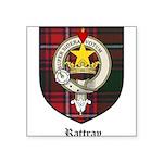 Rattray Clan Crest Tartan Square Sticker 3