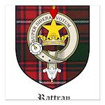 Rattray Clan Crest Tartan Square Car Magnet 3