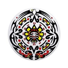 Tribal Mayan Calender Ornament (Round)