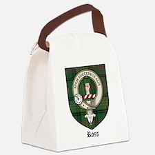 Ross Clan Crest Tartan Canvas Lunch Bag