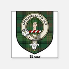 "Ross Clan Crest Tartan Square Sticker 3"" x 3"""