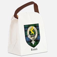Russell Clan Crest Tartan Canvas Lunch Bag
