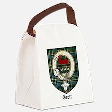 Scott Clan Crest Tartan Canvas Lunch Bag