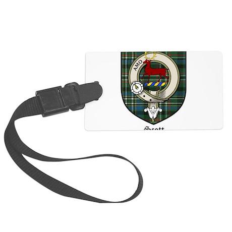 Scott Clan Crest Tartan Large Luggage Tag