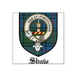 Shaw Clan Crest Tartan Square Sticker 3