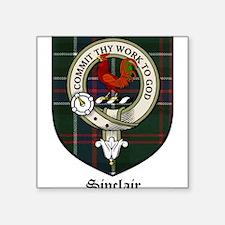 "Sinclair Clan Crest Tartan Square Sticker 3"" x 3"""