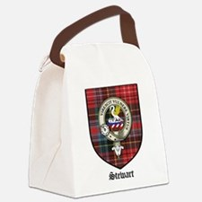 Stewart Clan Crest Tartan Canvas Lunch Bag
