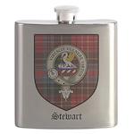 Stewart Clan Crest Tartan Flask