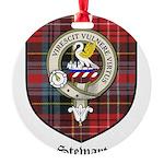 Stewart Clan Crest Tartan Round Ornament