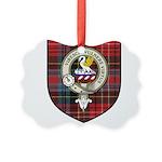 Stewart Clan Crest Tartan Picture Ornament