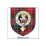 Stewart Clan Crest Tartan Square Sticker 3