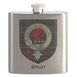 Stuart Clan Crest Tartan Flask