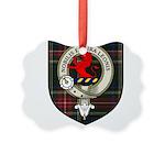 Stuart Clan Crest Tartan Picture Ornament