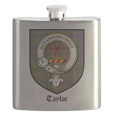 Taylor Clan Crest Tartan Flask