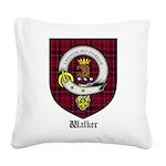 Walker Clan Crest Tartan Square Canvas Pillow
