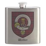 Walker Clan Crest Tartan Flask