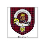 Walker Clan Crest Tartan Square Sticker 3