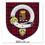 Walker Clan Crest Tartan Square Car Magnet 3