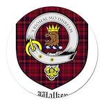 Walker Clan Crest Tartan Round Car Magnet