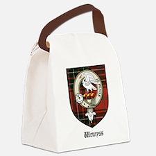 Wemyss Clan Crest Tartan Canvas Lunch Bag